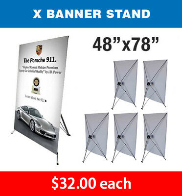 X Banner Stand Tripod Trade Show Display Large 48 X 78 - Qty 6