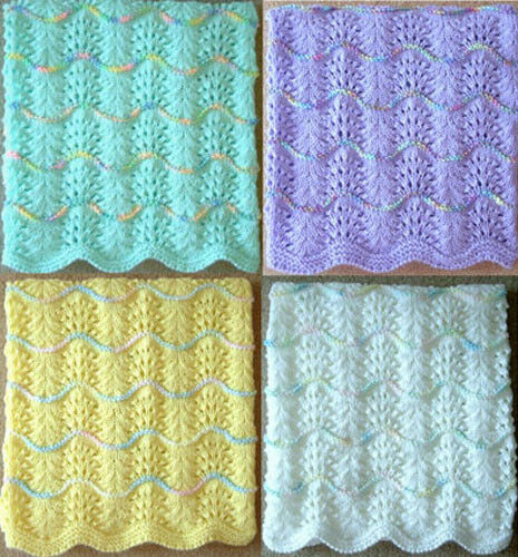 NEW HANDMADE KNIT Crochet BABY Afghan Blanket Infant Throw
