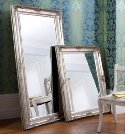 New Large Harrow leaner mirror in silver or cream BACK IN STOCK NOW!