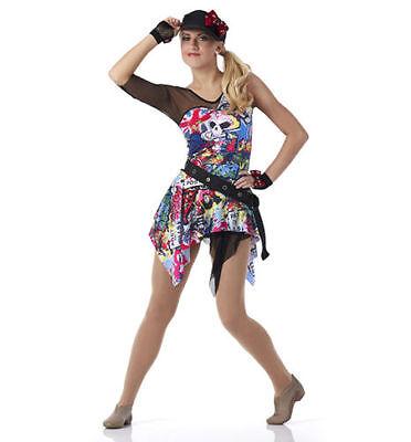 Graffiti Hip Hop Skirt Shirt Dance Costume One Less Problem CXS,CL,,AL,3XL](Hip Hop Costumes)