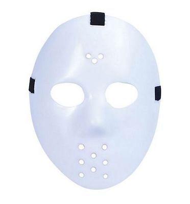 Hockey Themed Halloween Costumes (Men's Friday The 13th White Jason Hockey Fancy Dress Mask Stag Theme Halloween)