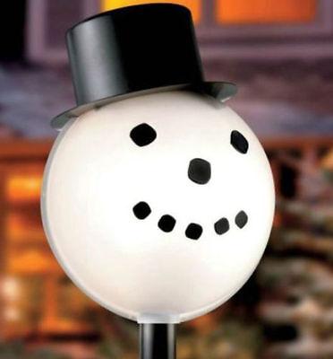 Snowman Lamp Post Cover Light Cover Outdoor Christmas Decor Yard Art ()