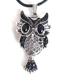 Owl necklace ebay owl pendant necklaces aloadofball Image collections