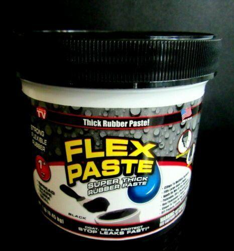 Flex Seal Flex Paste PFSBLKR16 BLACK Super Thick Rubber Paste 1 Lb Jar