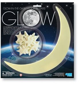 NEW: Glow In The Dark Large Moon and Stars - $12 CASH, NO TAX