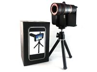 Lens and tripod for iPhone 4/4s.