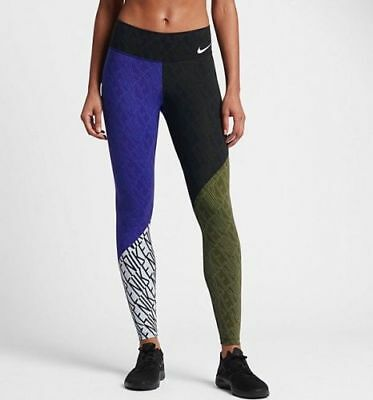 Nike Power Legendary Printed Mid Rise Training Tights (S) 833069-512