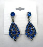 Blue Pageant Earrings
