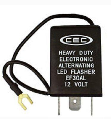 CEC Industries EF30AL Electronic Wig-Wag Alternating Flasher Relay, LED Compatib
