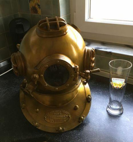 Scuba Divers Diving Helmet Diver SCA U.S Navy Antique Marine Mark V Deep Sea