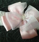 White Bow Baby Headband