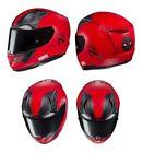 Racing Red Full Face Helmets