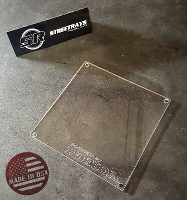 [SR] ECU CLEAR LID COVER Powered By HONDA ACURA RSX DC5 JDM USDM K20 K-SERIES - K Series Ecu