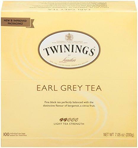 Twinings Of London Earl Grey Black Tea Bags 100 Tea Bags Box