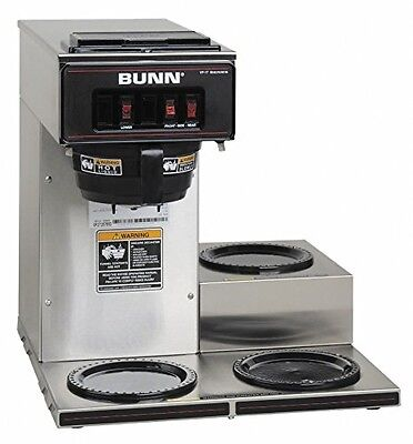 Bunn 13300.0003 Vp17-3ss3l Pourover Commercial Coffee Brewer With Three Lower Wa