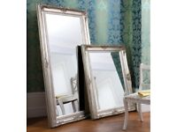New 5.5x3ft Harrow silver or cream carved mirror NOW ONLY £139 LAST FEW