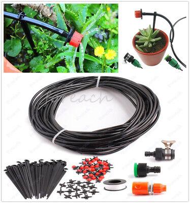 DIY Irrigation System Plant Self Watering Yard Garden Lawn Micro Drip 25m Hose
