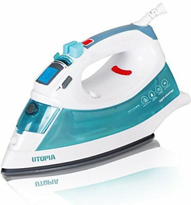 Steam Iron Digital with Nonstick Soleplate - Light Weight - Powerful Steam