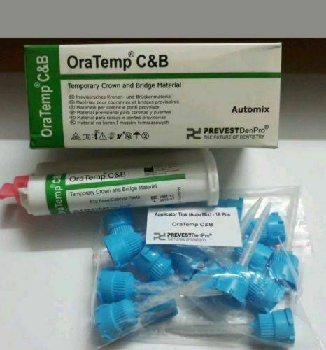 Prevest DenPro Oratemp C&B - 67gm Temporary Crown & Bridge Material- Automix