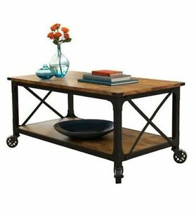 Rustic Coffee Table Industrial Vintage Wood Furniture Modern Country Reclaimed