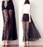 Black See Through Maxi Skirt