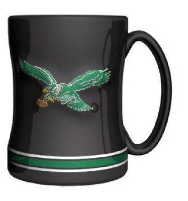 Philadelphia Eagles Mug (Philadelphia Eagles Coffee Mug Relief Sculpted Team Color Logo 14 oz NEW - RETRO )