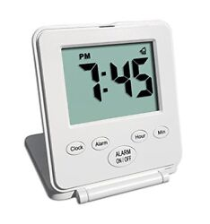 Travelwey Digital Travel Alarm Clock 12/24 Hour Date Snooze Light US SELLER New