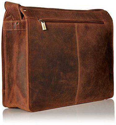 Visconti 16054 Leather Messenger Bag Shoulder X Large Laptop Case Tan Gift