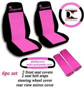 Pink and Black Seat Covers