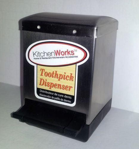 Stainless steel toothpick holder ebay - Stainless steel toothpick dispenser ...