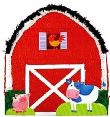 Farm Themed Birthday Supplies (Barn Pull String Pinata - Farm  Themed Birthday Party)