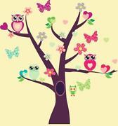 Owl Tree Wall Sticker