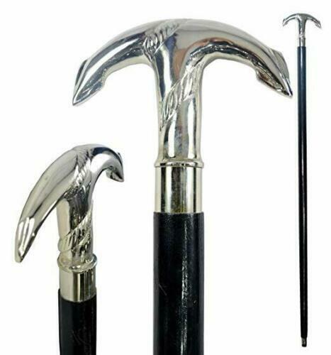 Vintage+Brass+Anchor+Handle+Black+Wooden+Walking+Stick+Cane+Golden+HALLOWEEN+GIF