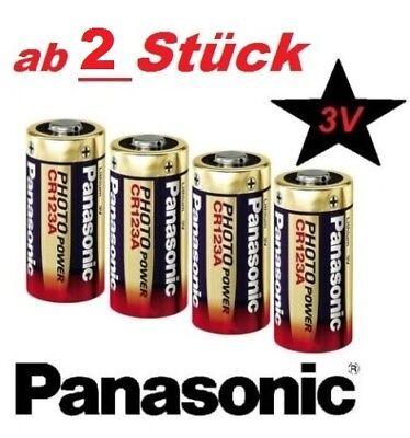 Panasonic CR123 A Photo Foto Lithium-Batterie 3V  Kamera Strom Sparpreis OVP! Panasonic 3v Photo