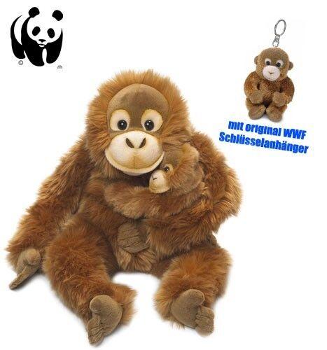 WWF Plüschtier Orang-Utan Mutter mit Baby (25cm) Schlüsselanhänger Kuscheltier