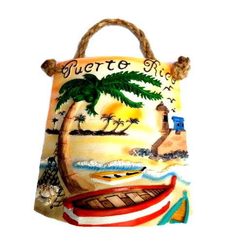 "8"" Inch Puerto Rico Home Decorative Souvenirs Tile Shingle Wall Rican Boricua PR"