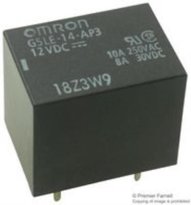 Omron Electronic Components G5le-14-ap3 Dc12 Power Relay Pack Of 4