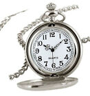 Full Hunter Silver Analog Modern Pocket Watches