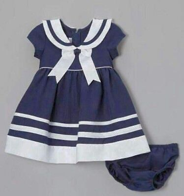 Sailor Dress Girls Nautical Infant 6mo-18mo Toddler 2t-4t - Girls Toddler Costumes