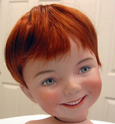 KELLY DOLL WIG Carrot Red size 10-11 NEW short hair for baby/toddler/boy DOLLS
