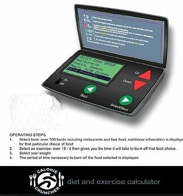 Calorie Cruncher Counter Calculator Diet Exercise with Pedometer