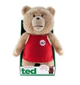 Ted Bear in Apron 16 Plush with Sound and Moving Mouth by Ted