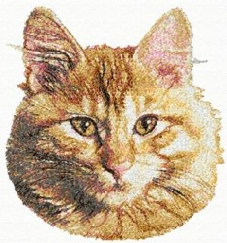 Large Embroidered Zippered Tote - Maine Coon Cat AED16356 Sizes S - XXL