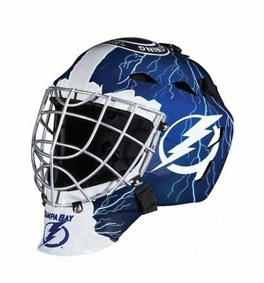 Masquerade Masks Tampa (TAMPA BAY LIGHTNING NHL FULL SIZE YOUTH GOALIE HOCKEY MASK ** NEW)