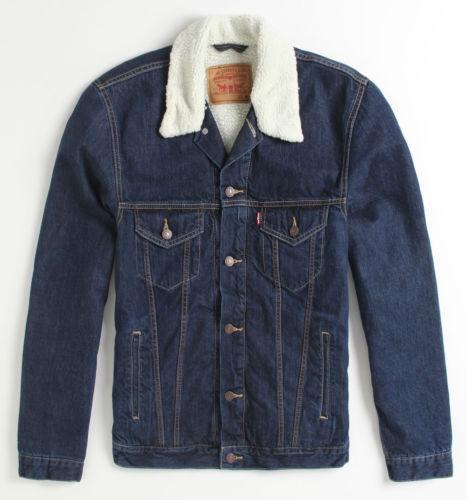 levis sherpa trucker jacket ebay. Black Bedroom Furniture Sets. Home Design Ideas