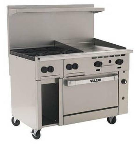 "Vulcan 48s-4b24g Endurance 48"" Range 4 Burners And 24"" Manual Griddle W/ Oven"