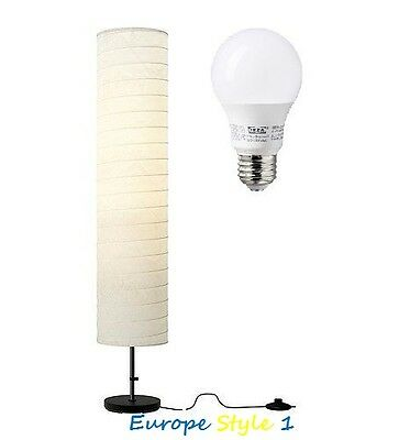 ~~NEW IKEA HOLMO FLOOR LAMP SHADE RICE PAPER OR E26 400 LM L