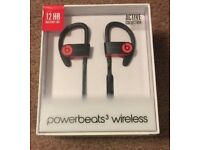 **UNOPENED** Beats by Dre Powerbeats3 Wireless Earphones - Siren Red