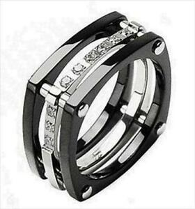 Delightful Menu0027s Diamond Titanium Wedding Bands