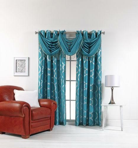 Teal Curtains | EBay Part 93